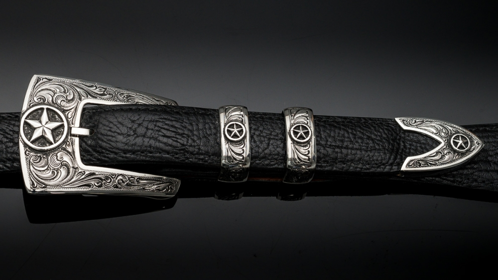 "Pagosa 1"" Fine Engraved with Silver Star, Code: EF78SS"