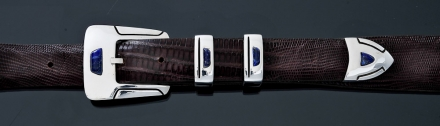 "B50L 1"" 4 piece buckle, smooth with Lapis"