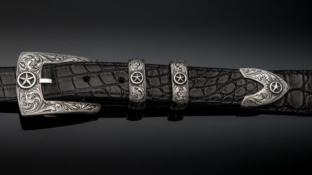 "Aztec 1"" Fine Engraved with Silver Star, Code: EF79SS"