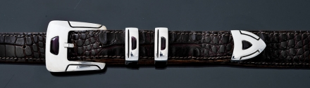 "B50S 1"" 4 piece buckle set with sugilite"